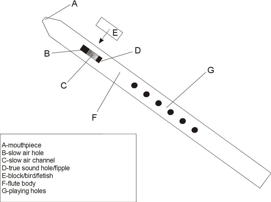 parts of a flute diagram